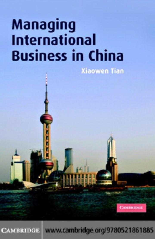 Managing International Business in China