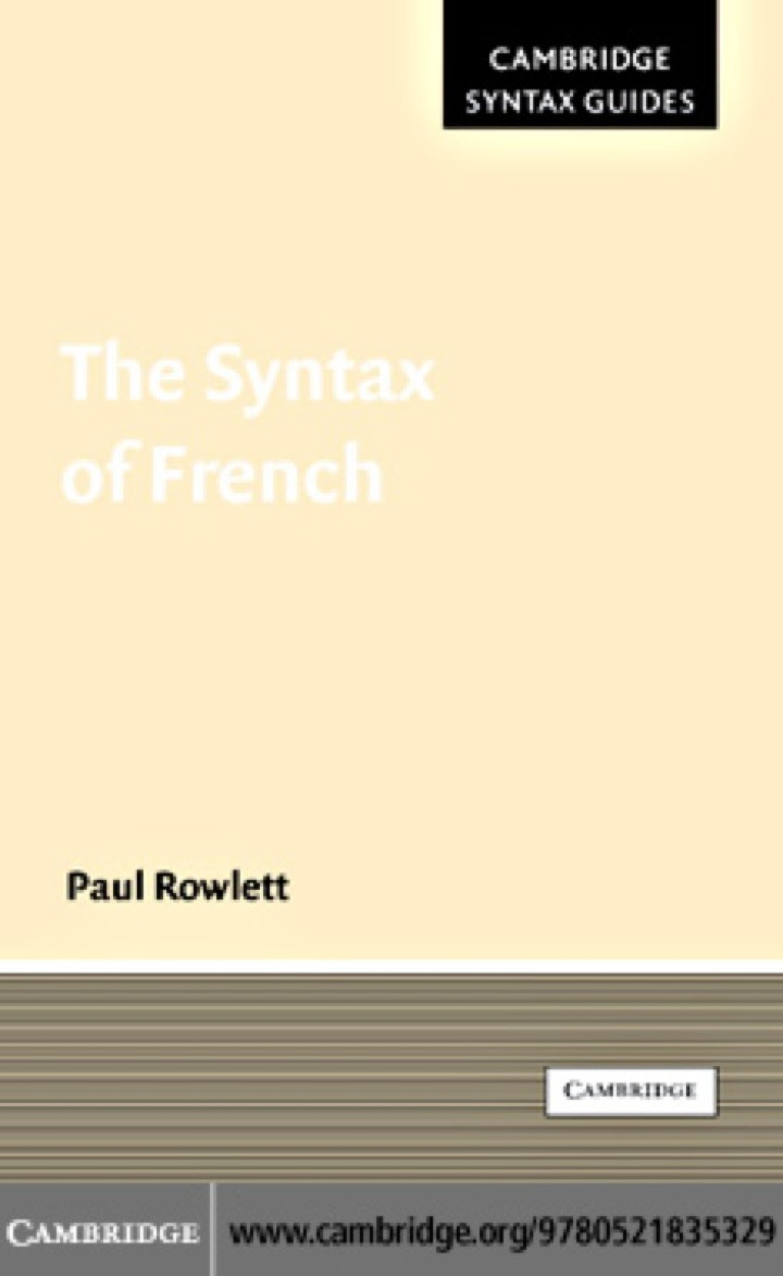 The Syntax of French