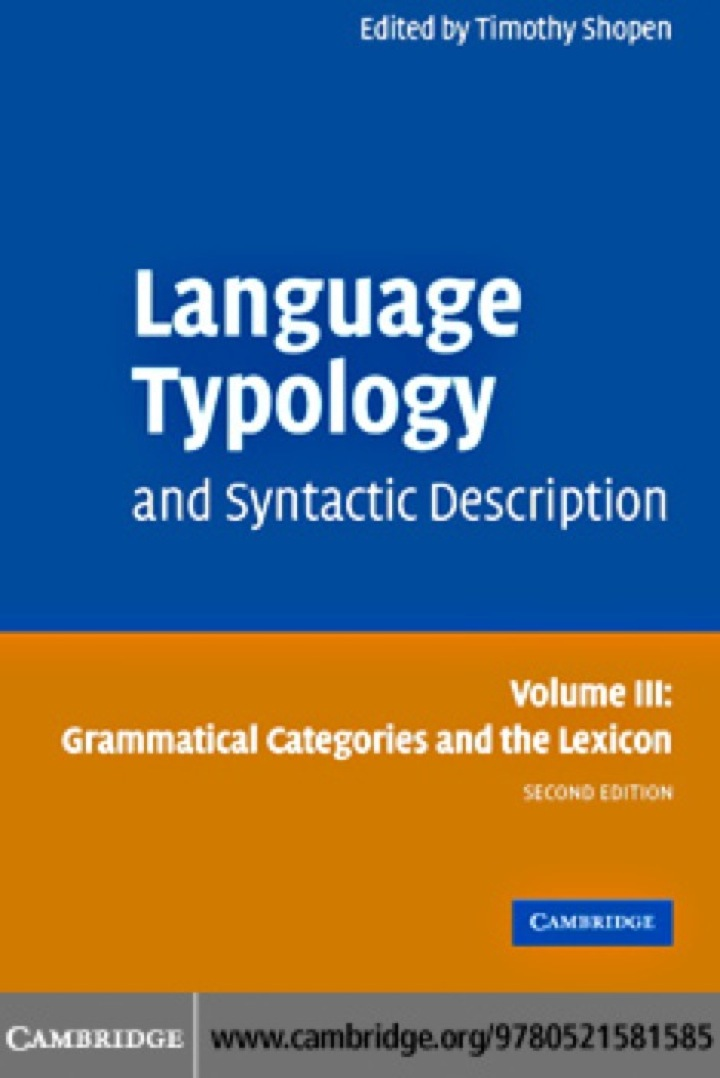 Language Typology and Syntactic Description: Volume 3, Grammatical Categories and the Lexicon