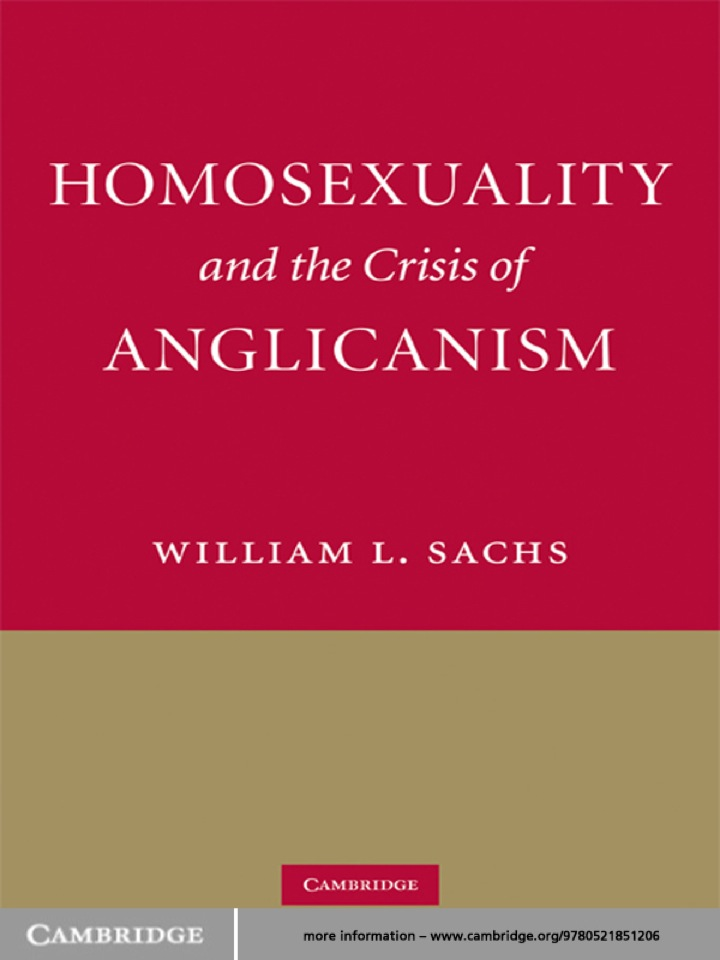 Homosexuality and the Crisis of Anglicanism