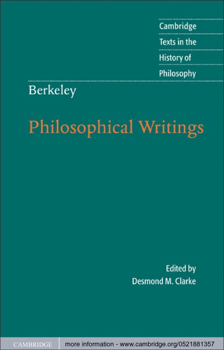 Berkeley: Philosophical Writings
