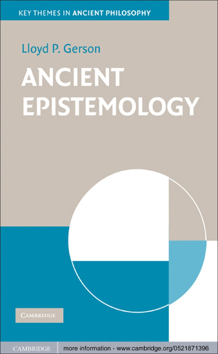 Ancient Epistemology
