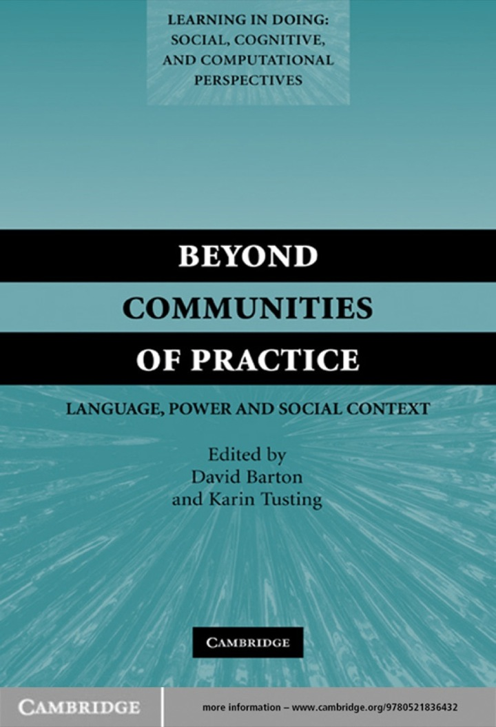 Beyond Communities of Practice