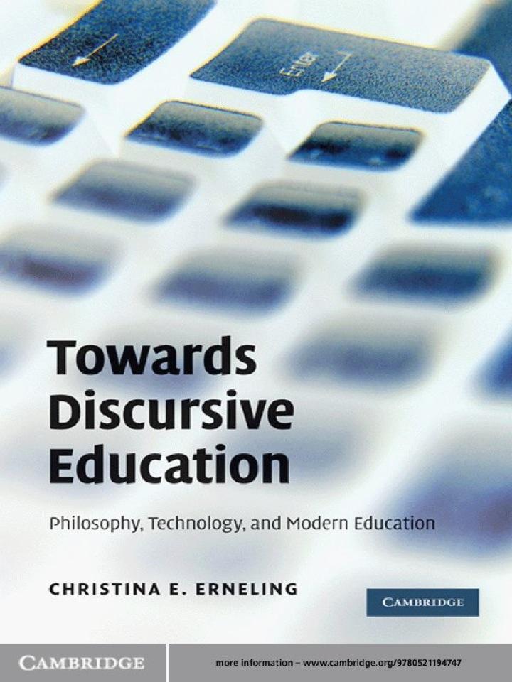 Towards Discursive Education