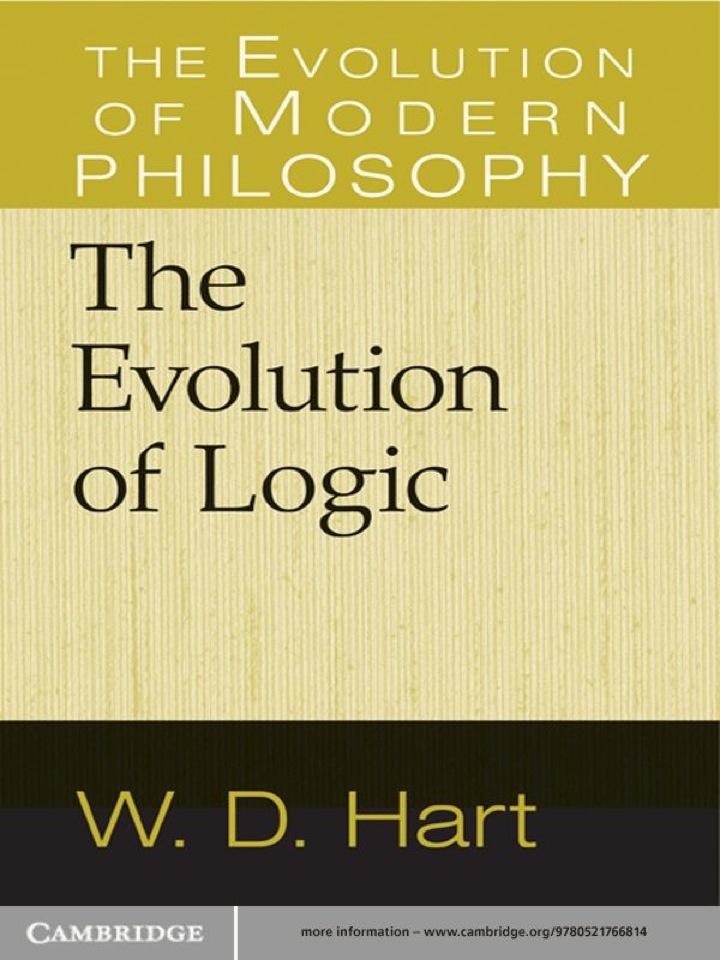 The Evolution of Logic