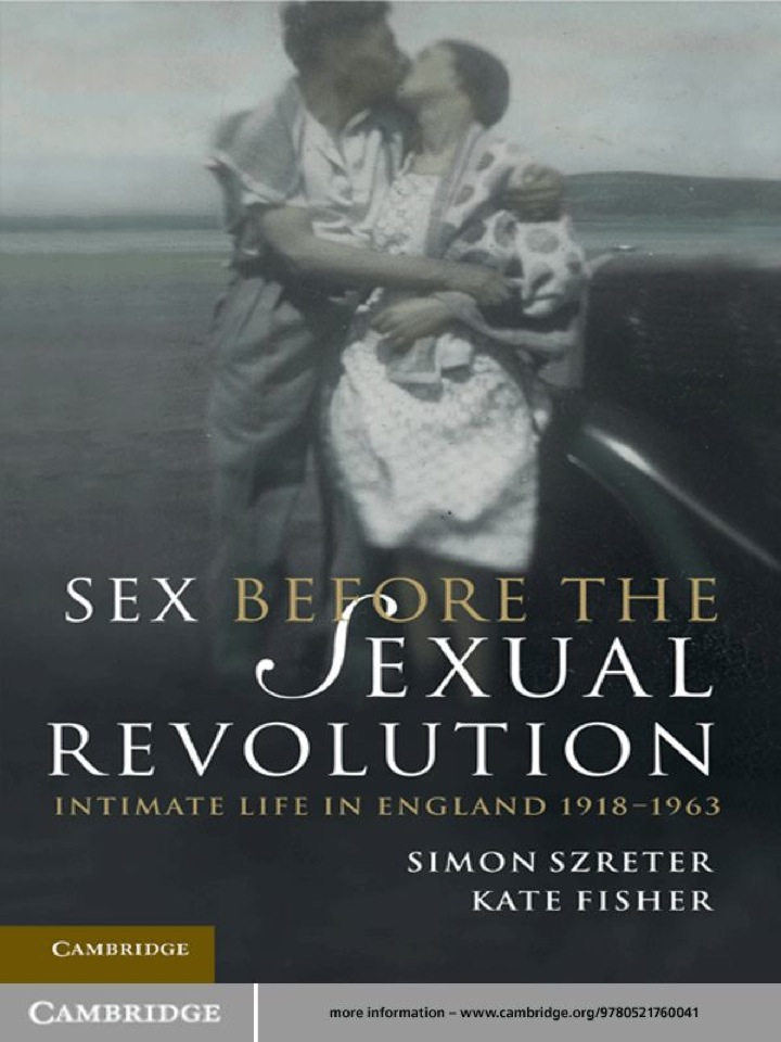 Sex Before the Sexual Revolution