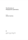 The Evolution of Phylogenetic Systematics 9780520956759