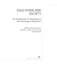 Education and Society              by             Dr. Thurston Domina