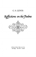 Reflections on the Psalms 9780547544236