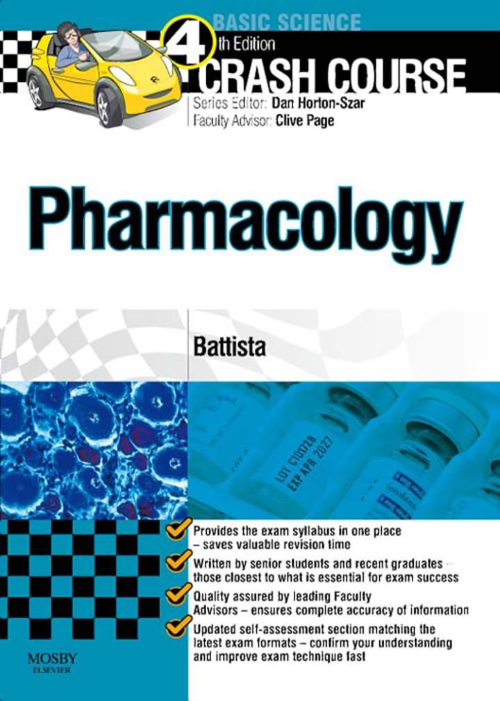 Crash Course: Pharmacology E-Book