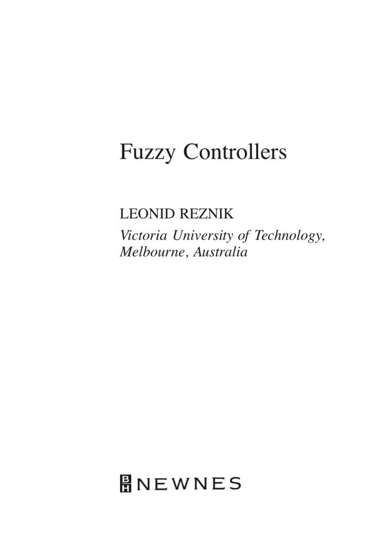 Fuzzy Controllers Handbook: How to Design Them, How They Work
