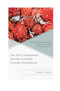The Total Transference and the Complete Counter-Transference 9780765708762