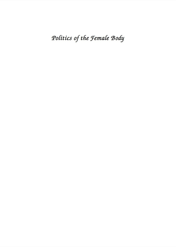 The Politics of the Female Body