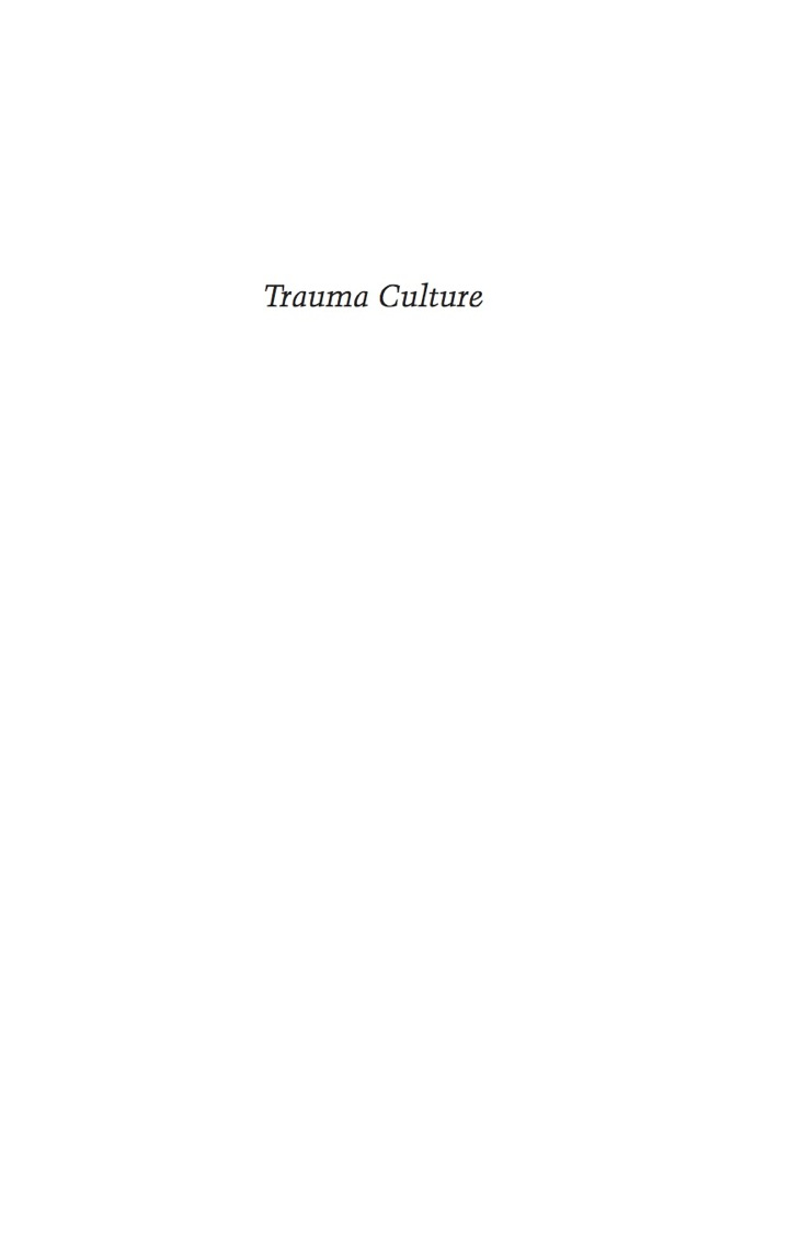 Trauma Culture
