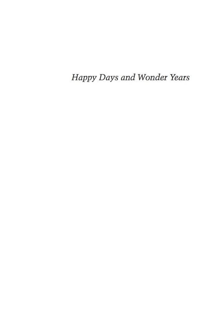 Happy Days and Wonder Years