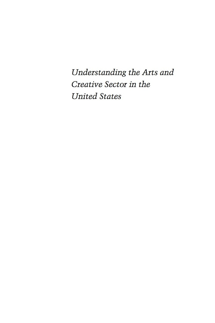 Understanding the Arts and Creative Sector in the United States