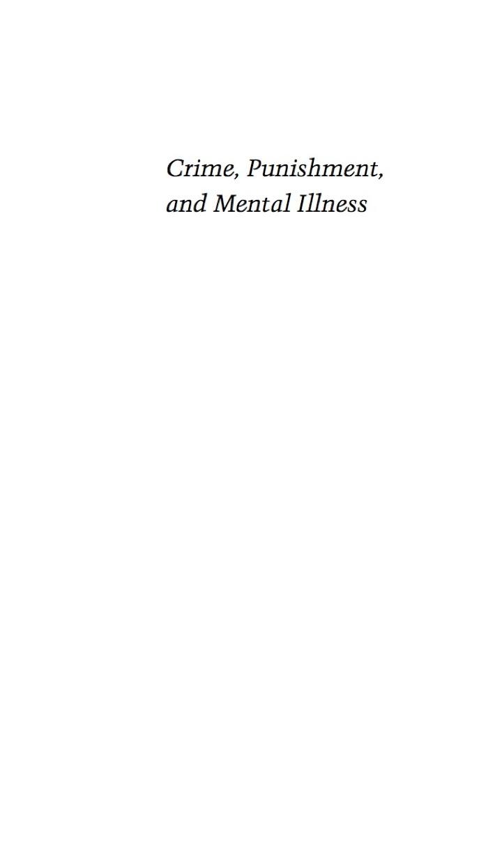 Crime, Punishment, and Mental Illness