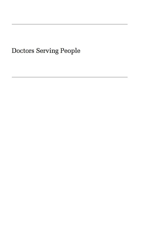 Doctors Serving People