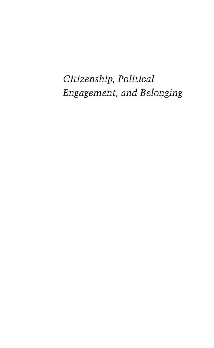 Citizenship, Political Engagement, and Belonging