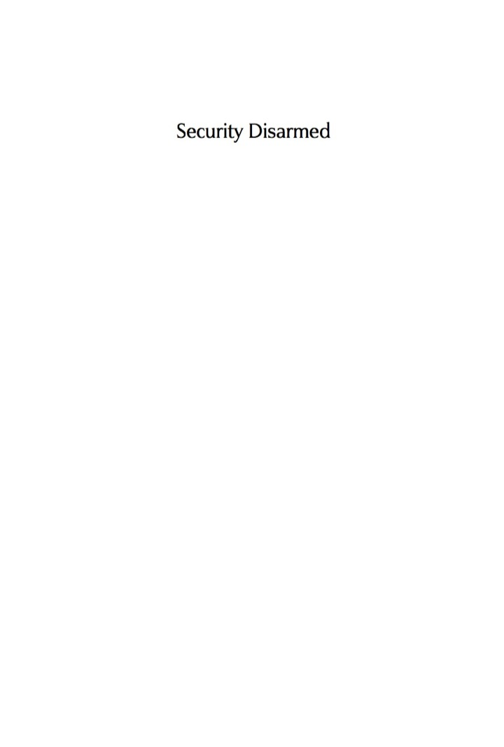 Security Disarmed