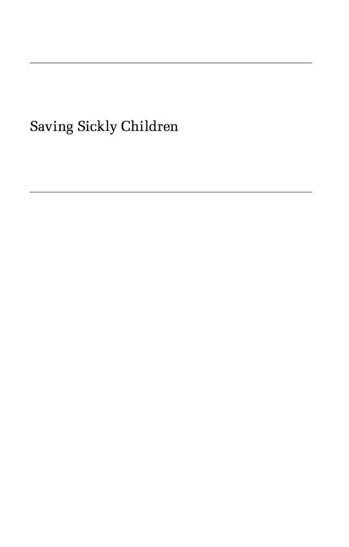 Saving Sickly Children