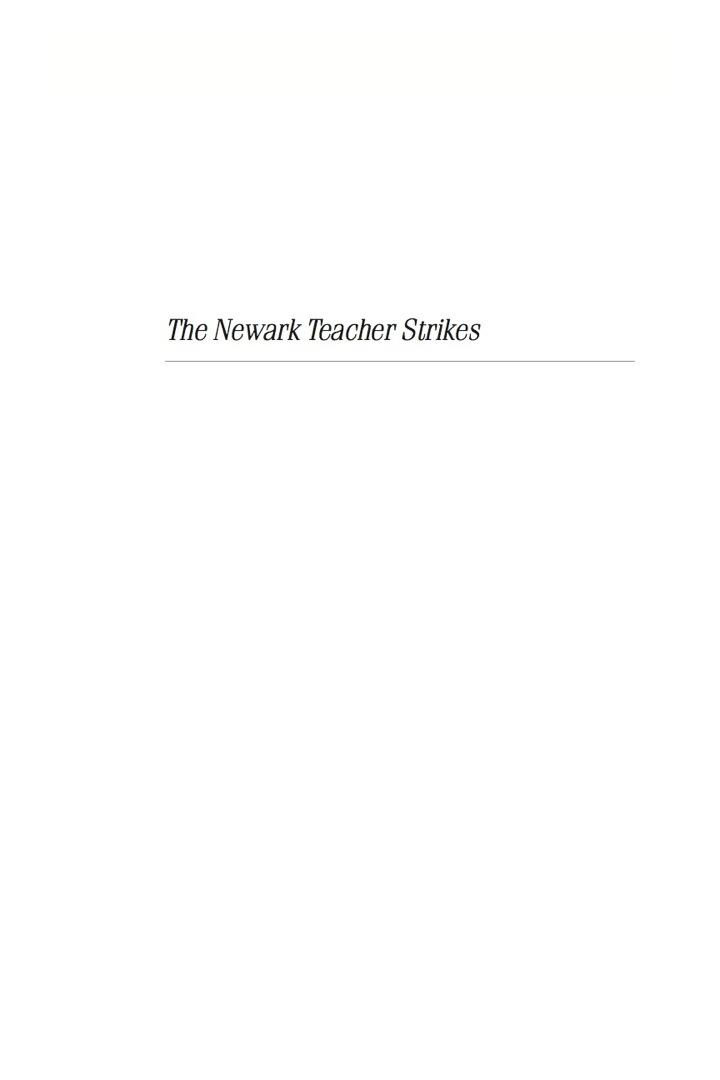 The Newark Teacher Strikes