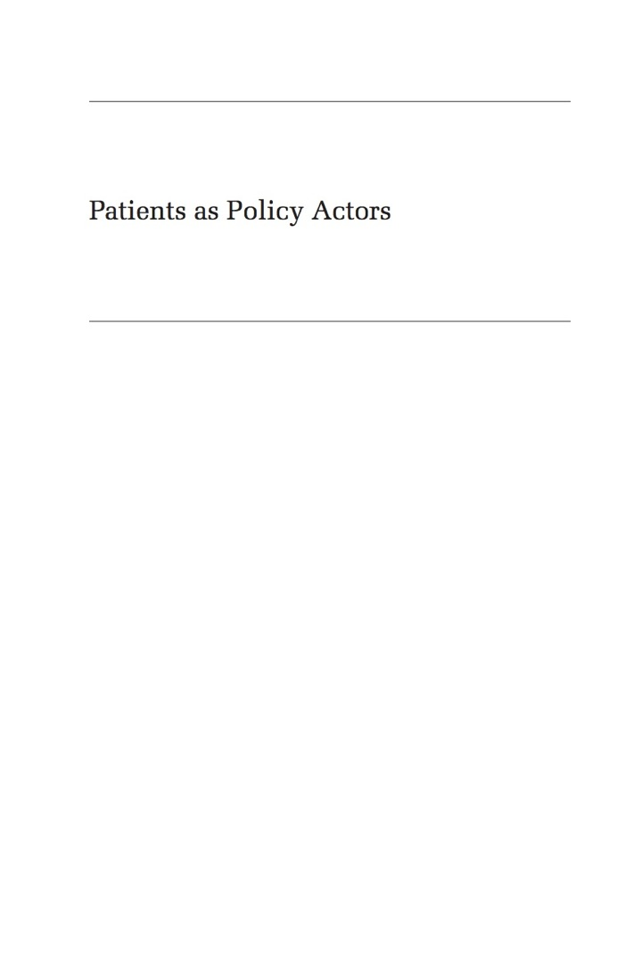 Patients as Policy Actors