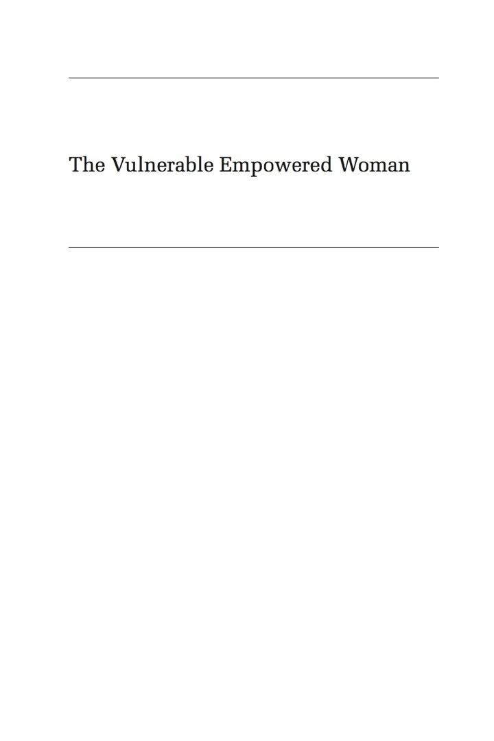 The Vulnerable Empowered Woman