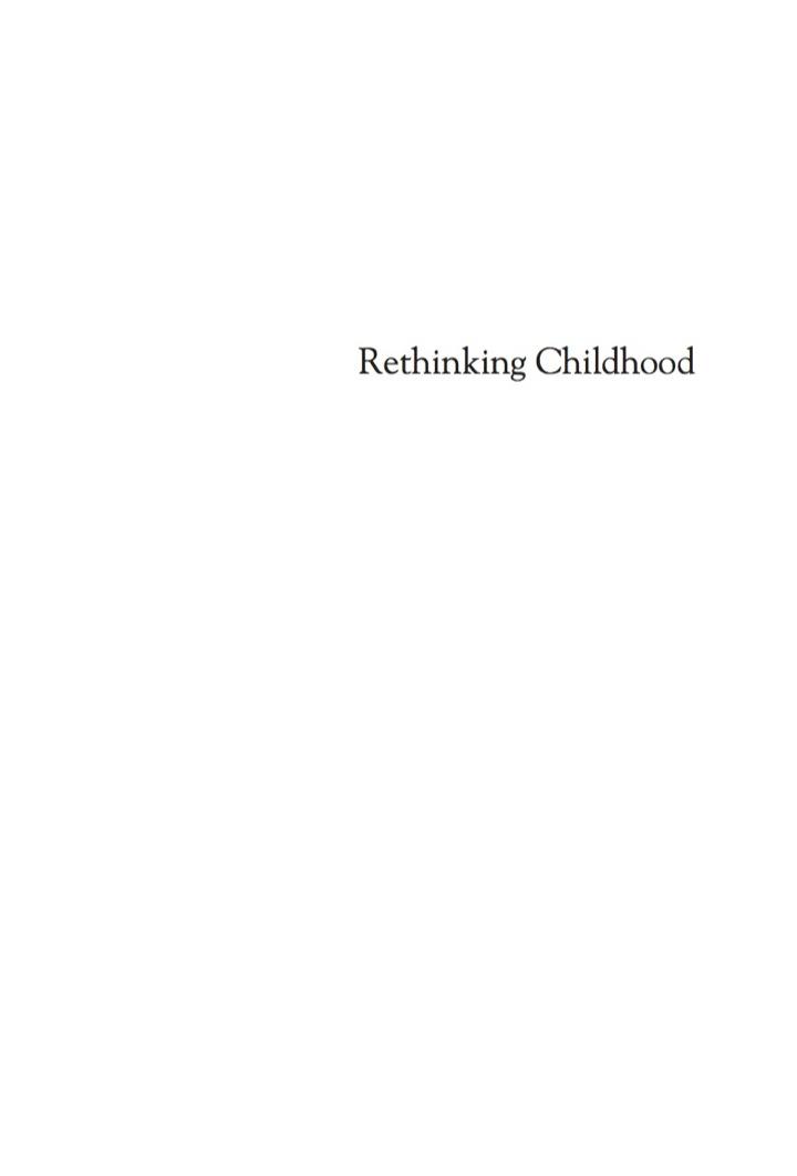 Rethinking Childhood
