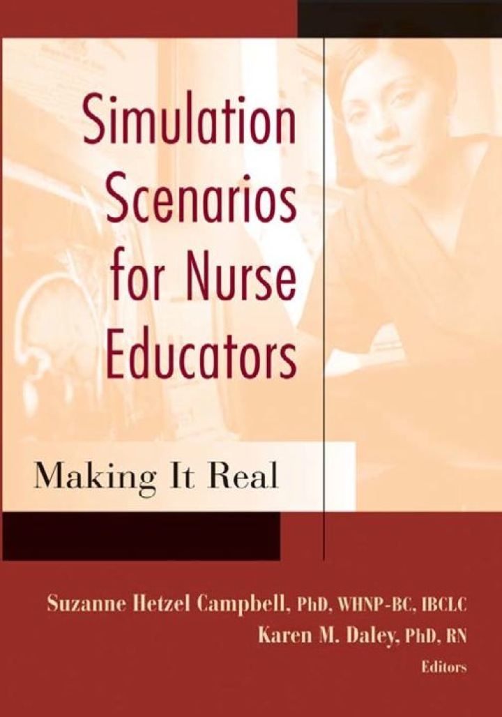 Simulation Scenarios for Nurse Educators