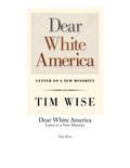 Dear White America 9780872865853
