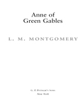 Anne of Green Gables, 100th Anniversary Edition 9781101203033