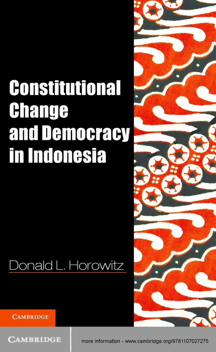 Constitutional Change and Democracy in Indonesia