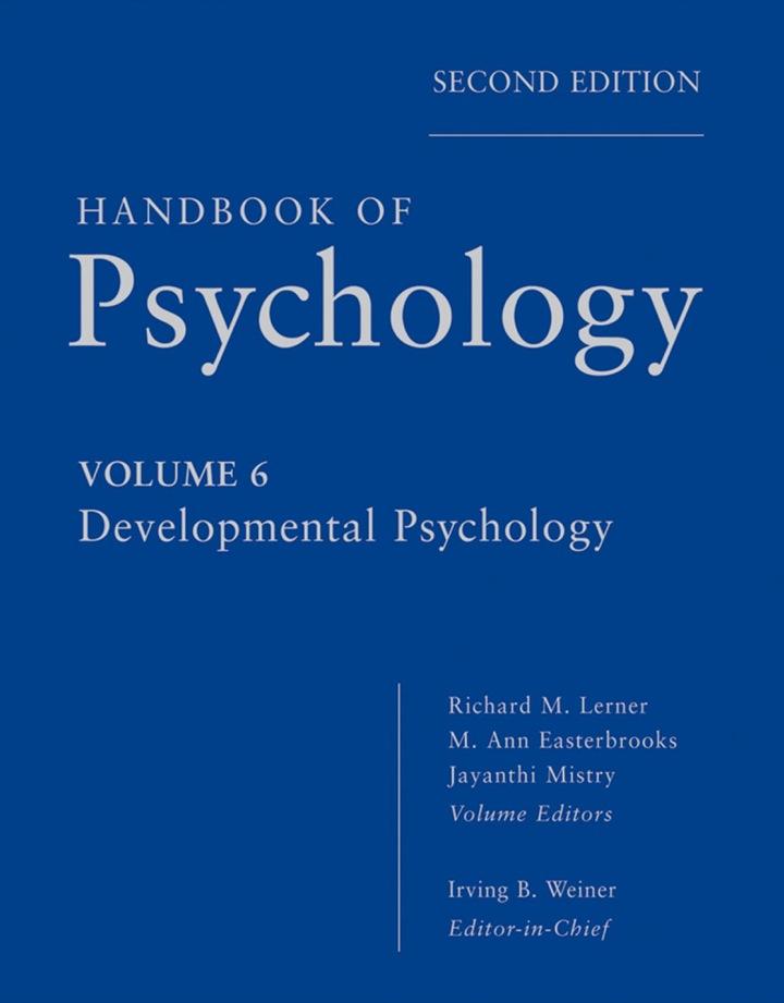 Handbook of Psychology, Developmental Psychology