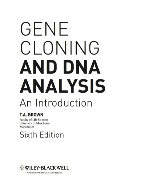 an introduction to the analysis of deoxyribonucleic acid also known as dna
