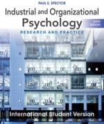 """Industrial and Organizational Psychology: Research and Practice, International Student Version"" (9781118379592)"