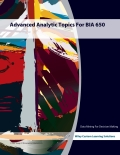 EBK ADVANCED ANALYTIC TOPICS FOR BIA 65