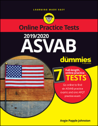 2019 / 2020 ASVAB For Dummies with Online Practice              by             Angie Papple Johnston