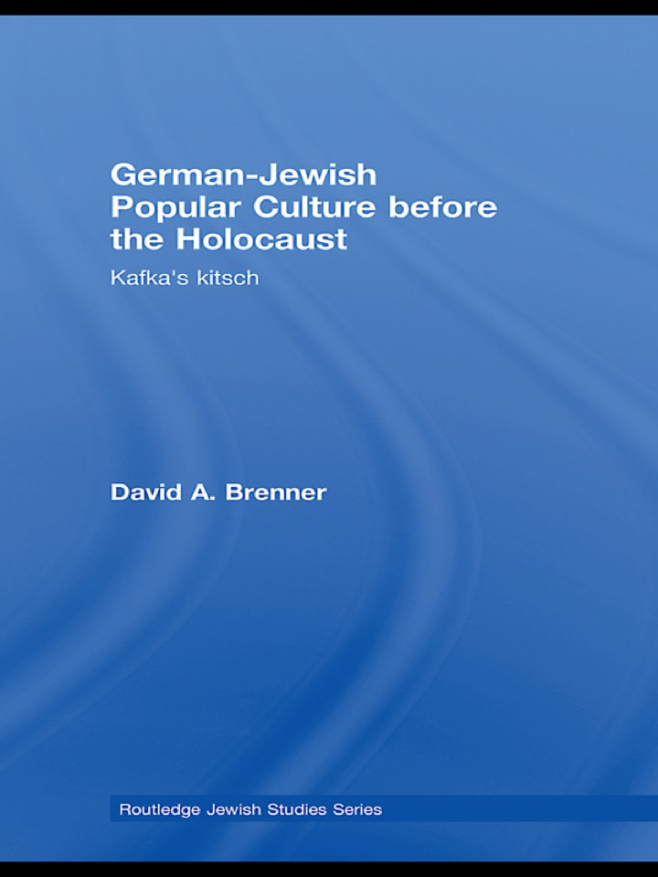 German-Jewish Popular Culture before the Holocaust