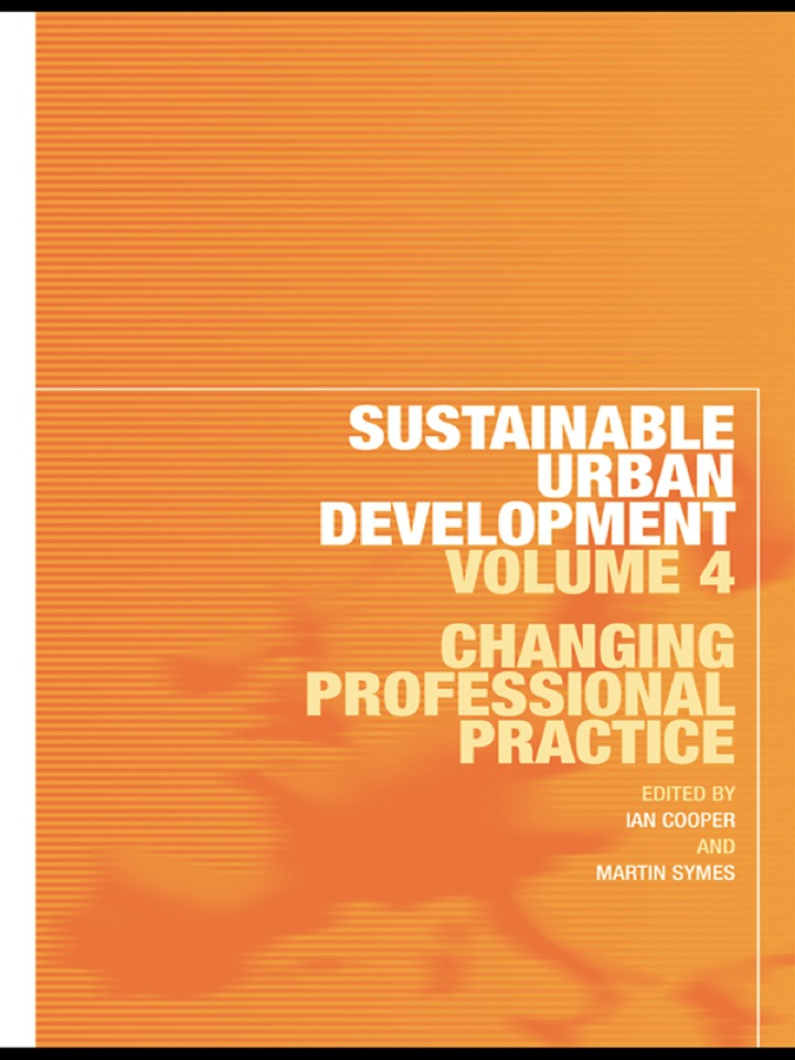 Sustainable Urban Development Volume 4