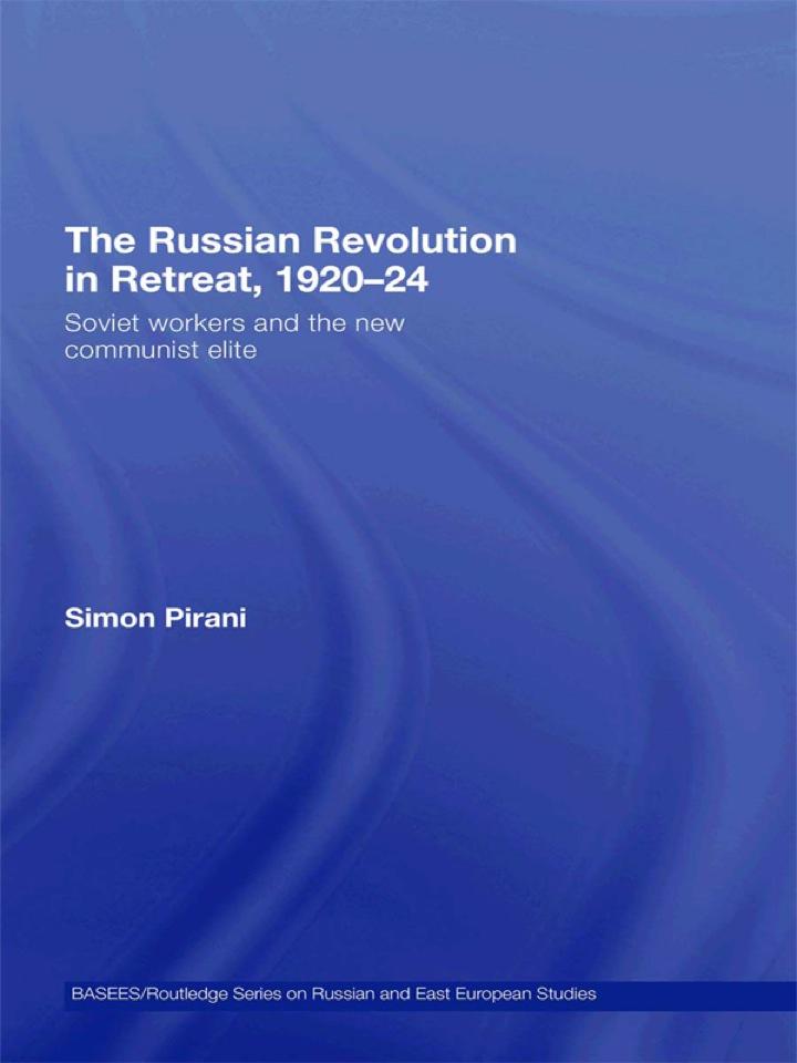 The Russian Revolution in Retreat, 1920-24