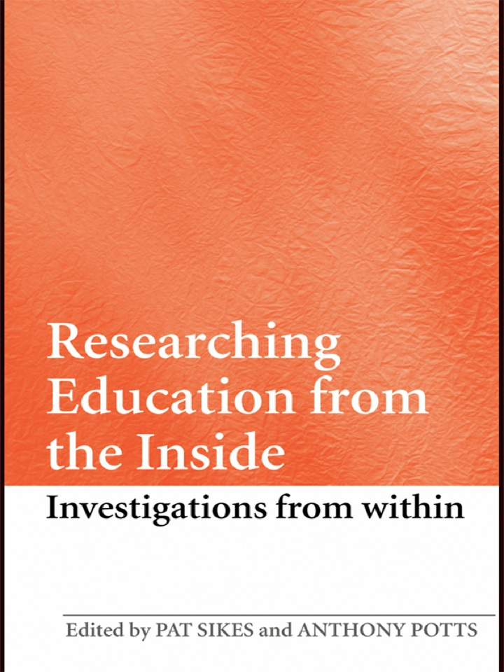 Researching Education from the Inside