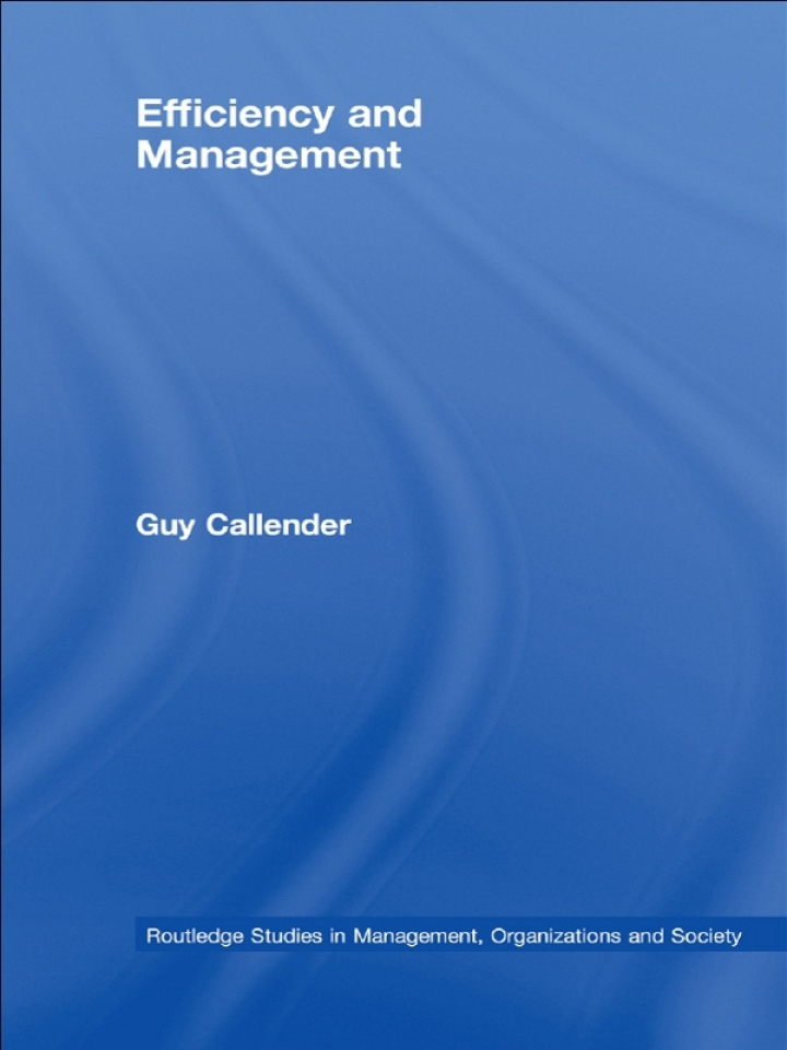 Efficiency and Management