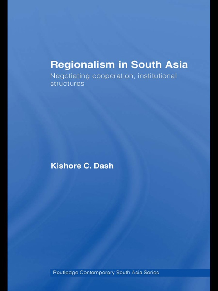 Regionalism in South Asia