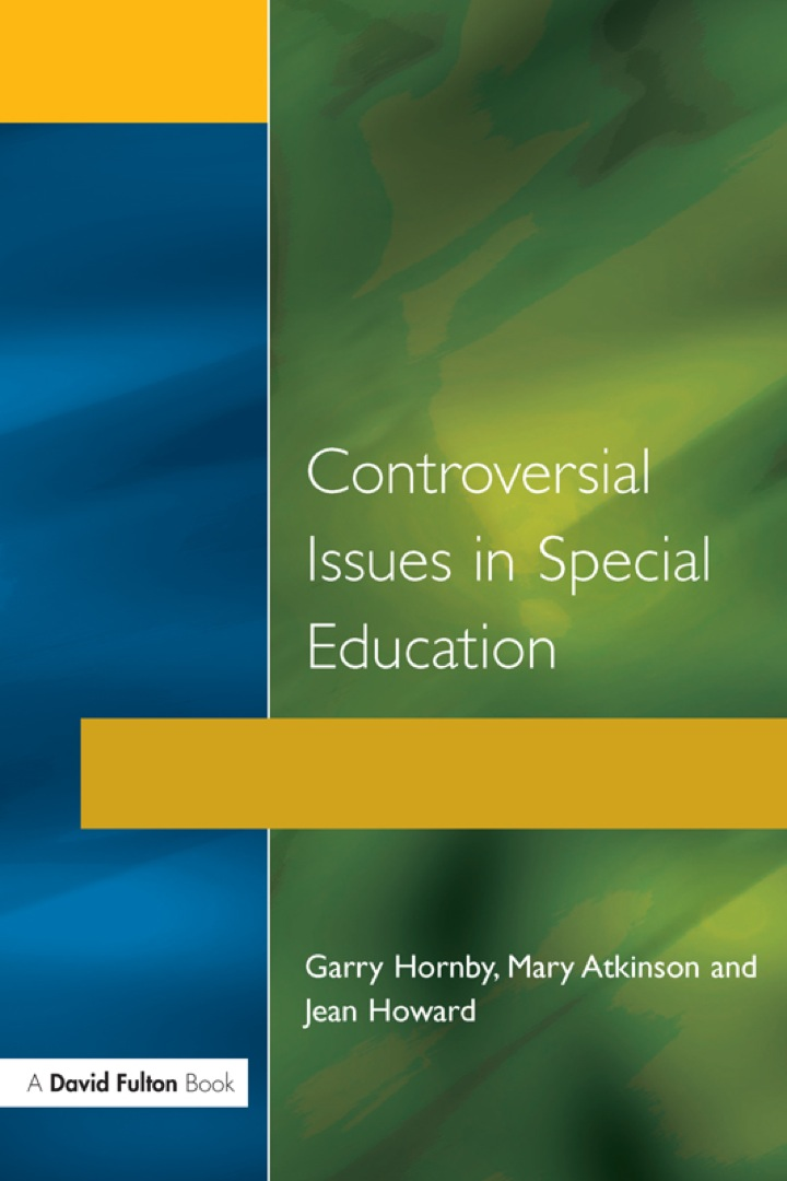 Controversial Issues in Special Education