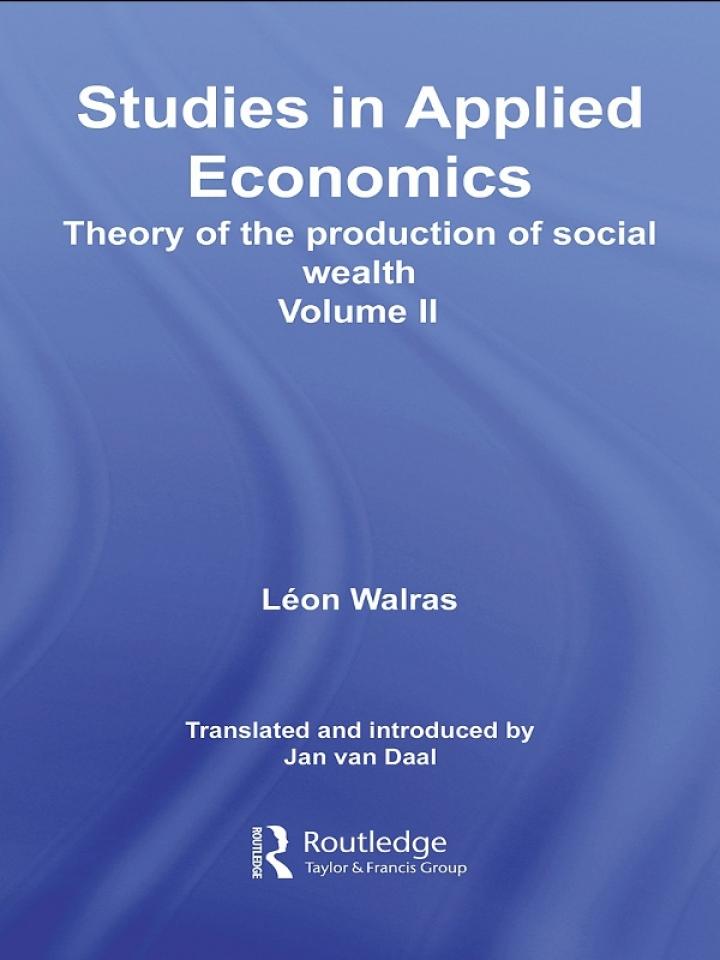 Studies in Applied Economics, Volume II