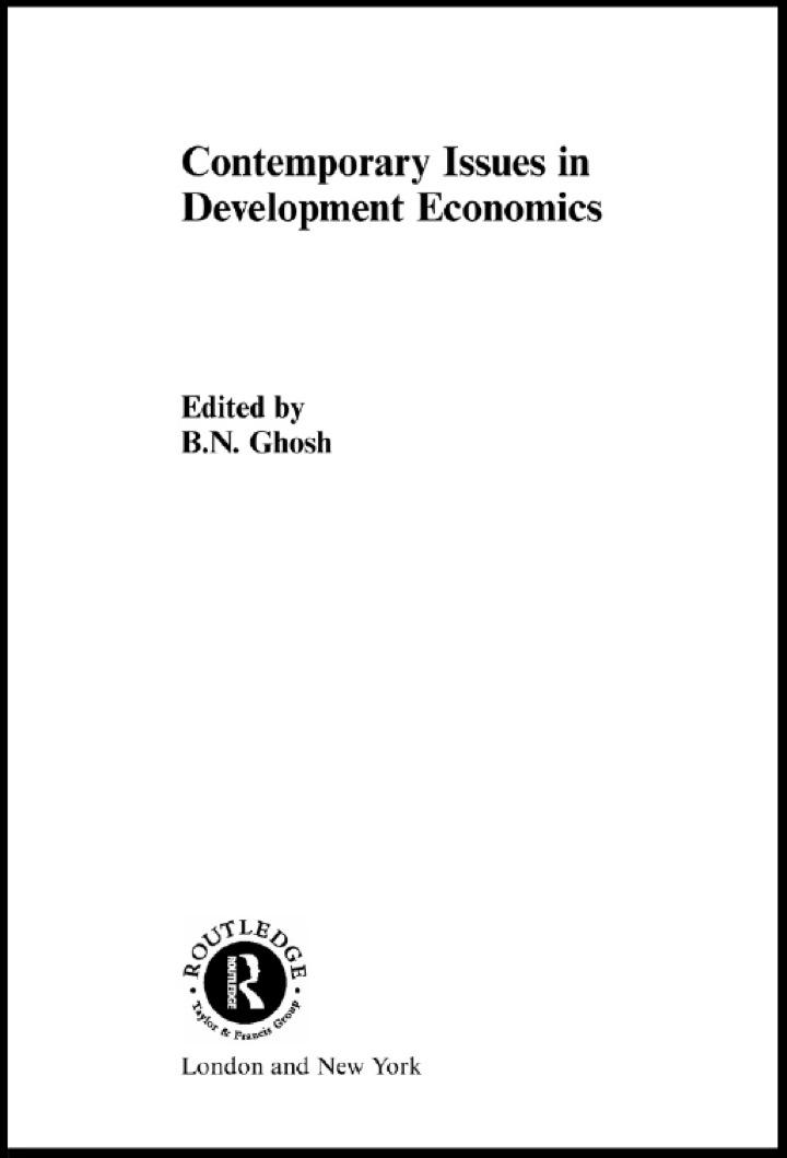 Contemporary Issues in Development Economics