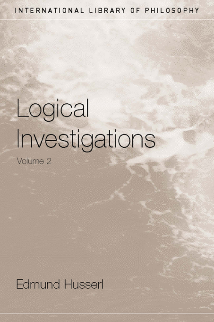 Logical Investigations Volume 2