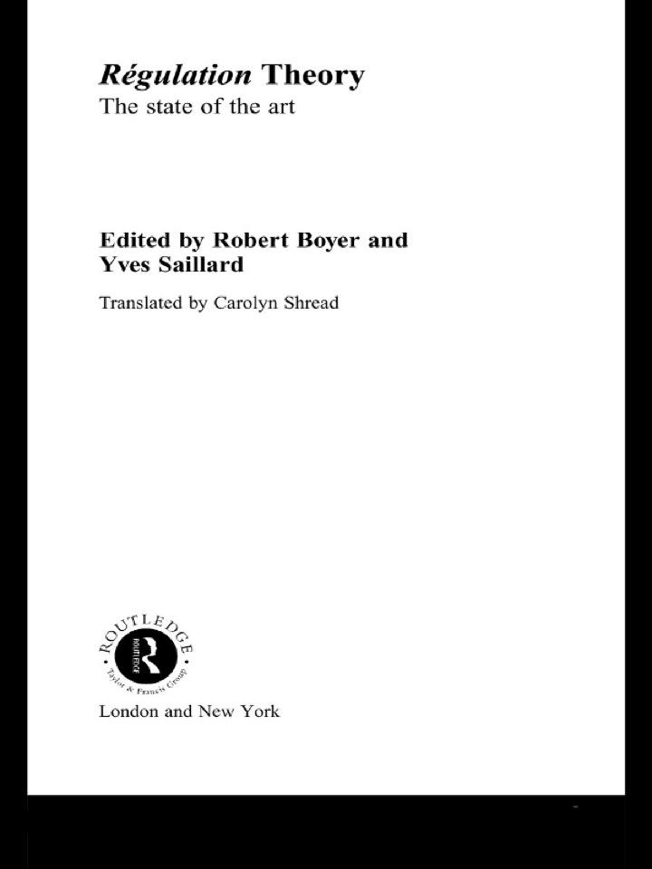 Regulation Theory