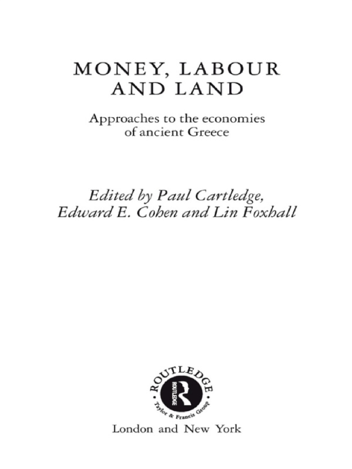 Money, Labour and Land